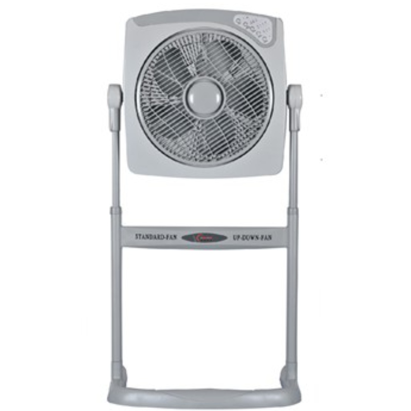 12 inch ABS plastic electric box fan with two ways stand